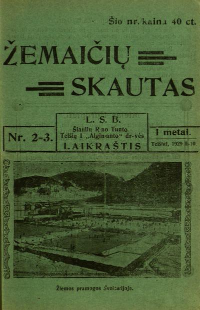 Žemaičių skautas / [red.] Pranas Druktenis. - 1928-1929