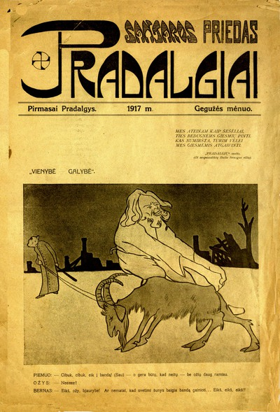 Pradalgiai / laikinoji redakcijos komisija: Adolfas Klimas (A. Klimas), Stasys Naginskas (St. Naginskas), Rapolas Skipitis (R. Skipitis), Petras Šalčius (P. Šalčius), Stasys Šilingas (St. Šilingas). - 1917