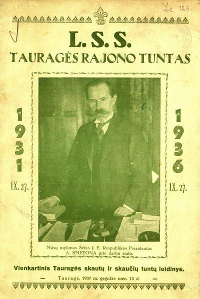 L. S. S. Tauragės rajono tuntas / redaktorius Juozas Namajūnas. - 1937