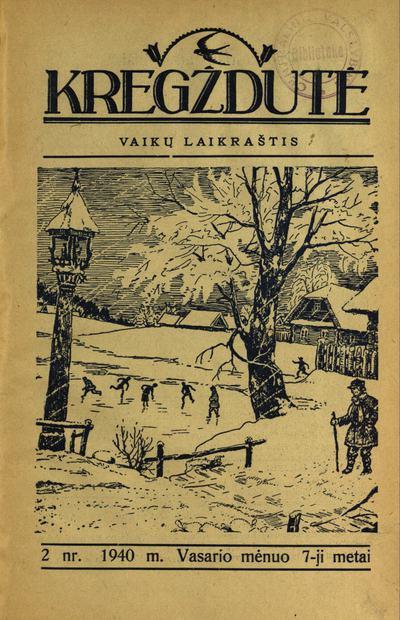 Kregždutė / redaktorius leidėjas: S. Tijūnaitis. - 1934-1940, 1991-