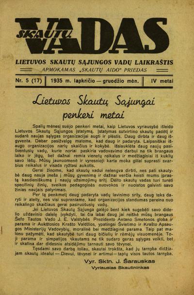 Skautų vadas / atsakomasis redaktorius A. Saulaitis. - 1932-1935