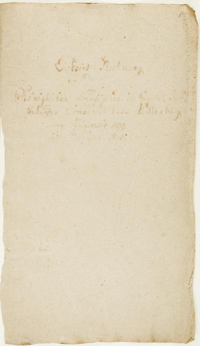 Jahres Rechnung von dem Koniglichen Preusischen in General Pacht stehenden Domainen Amte Willenberg von Trinitatis 1799 bis dahin 1800. - 1799-1800. - 38 lap.