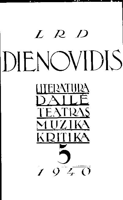 Dienovidis / redaktorius V. Mykolaitis-Putinas. - 1938-1940, 2001-