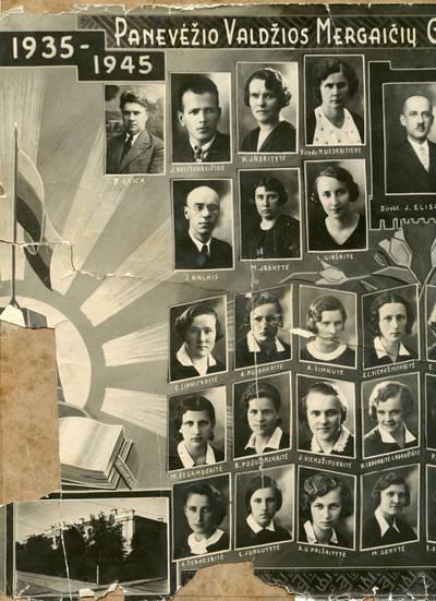 Panevėžio Valdžios mergaičių gimnazijos 3-oji laida. 1945