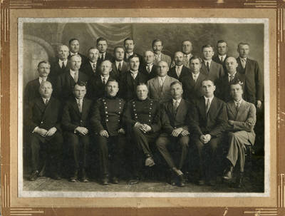 Panevėžio savivaldybės darbuotojai. 1938