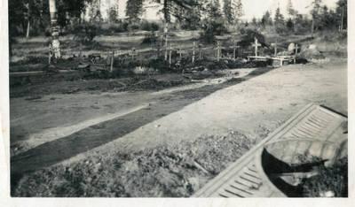 Nežinomas autorius. Antrojo pasaulinio karo Rytų frontas. Žuvusių vokiečių karių kapai. 1943