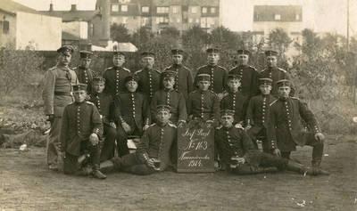 Nežinomas autorius. Prūsijos kariuomenės pėstininkų pulko kariai. 1914