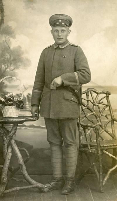 Nežinomas autorius. Jurgis Ašmys karinės tarnybos metu Vokietijos kariuomenėje. 1915