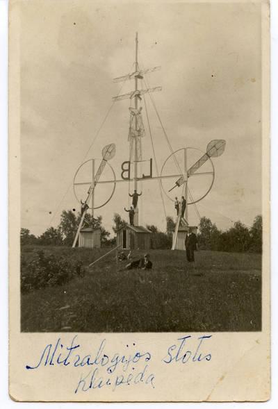 Nežinomas autorius. Vėjo semaforas ir signalinė stotis laivams Kopgalyje. 1940