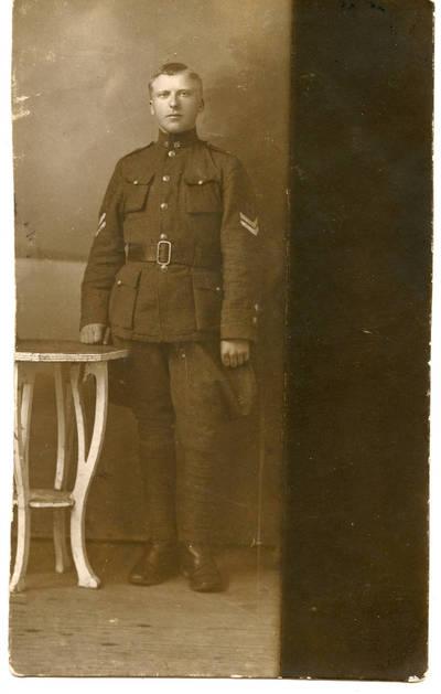 Antanas Jankauskas. Lietuvos kariuomenės karys B. Stankevičius karinės tarnybos metu. 1929
