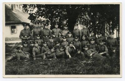 Povilas Butkus. Mosėdžio valsčiaus šauktiniai atliekantys karinę tarnybą Lietuvos kariuomenėje. 1937