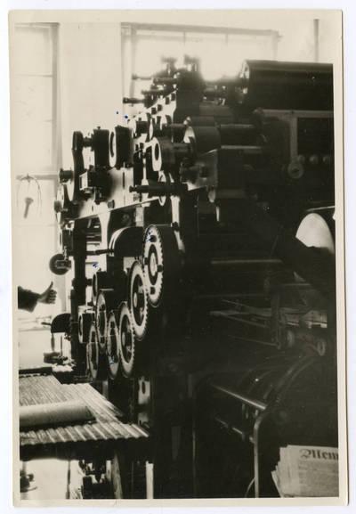 """Nežinomas autorius. Klaipėda. Akcinės bendrovės """"Rytas"""" spaustuvės mašinų skyrius. 1940"""