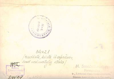 Mejeris Smečechauskas. Nuotrauka. Spaudos darbuotojai priėmime Estijos pasiuntinybėje. 1932
