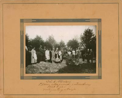 Nežinomas fotografas. Nuotrauka. Klimų vilos pamatų pašventinimas. 1929