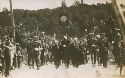Nežinomas fotografas. Nuotrauka. Žygio per Lietuvą procesija, skirta  Vytauto Didžiojo jubiliejiniams metams. 1930
