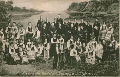 Willy Zimmer. Atvirukas. Lietuviška giedotojų draugija iš Tilžės. 1907