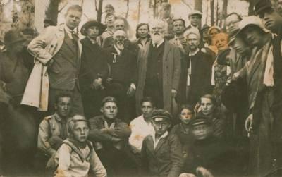 Nežinomas fotografas. Nuotrauka. Iškilmių, pastačius paminklą Lietuvos šauliams, dalyviai. 1933