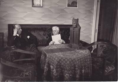 Mejeris Smečechauskas. Nuotrauka. A. Aleksandravičius svečiuose pas J. Tumą-Vaižgantą. 1933