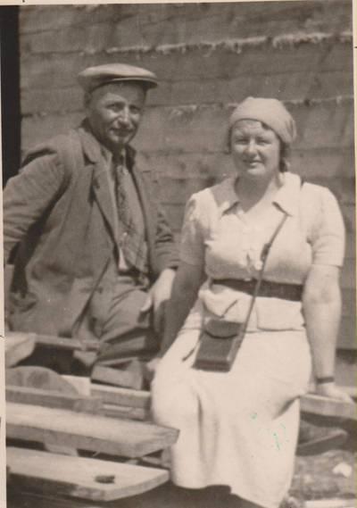 Nežinomas autorius. Nuotrauka. Balys Sruoga su žmona Vanda Daugirdaite-Sruogiene. 1938