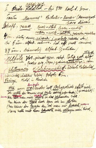 """Salomėja Nėris. Rankraštis.""""Athol. Zeit"""" [lapelis iš S. Nėries bloknoto su literatūriniais įrašais vokiečių ir lietuvių k.]. 1928"""