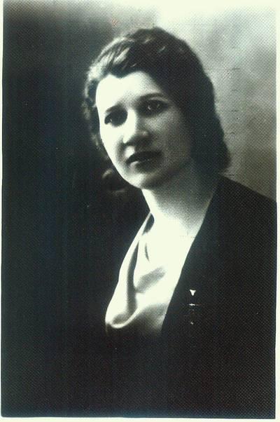 Fotografija. Malvinos Valeikienės portretinė nuotrauka. 1938 m. 1938