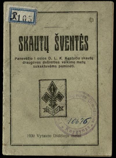 Skautų šventės / [viršelyje ir tekste visi piešiniai skilt. Antano Gabrėno]. - 1930