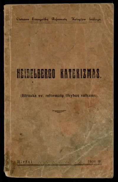 Heidelbergo katekizmas. - 1936