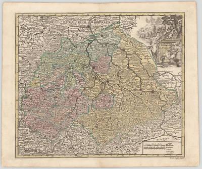 Christoph Weigel. Saxonia Superior cum regionibus insertis & contiguis extant qq. cursu publici permatationes
