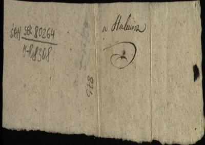 """Šiaulių """"Aušros"""" muziejaus rinkiniai. Dvarų archyvo dokumentai. Telšių žemės teismo sukolektoriaus P. Silvestravičiaus kvitas, jog įgaliotinis Grodeckis sumokėjo pinigus už Hulevičiaus-Bulkarino bylą, 1803 m. spalio 27 d. - 1803.10.27"""