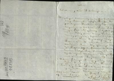 """Šiaulių """"Aušros"""" muziejaus rinkiniai. Dvarų archyvo dokumentai. Siksto Grodeckio laiškas Kartenos dvaro rochmistrui Bojarskiui. Prašo, kad Žukovska sumokėtų jam priklausančią kapituliacinę pensiją, 1807 m. vasario 19 d. - 1807.02.19"""