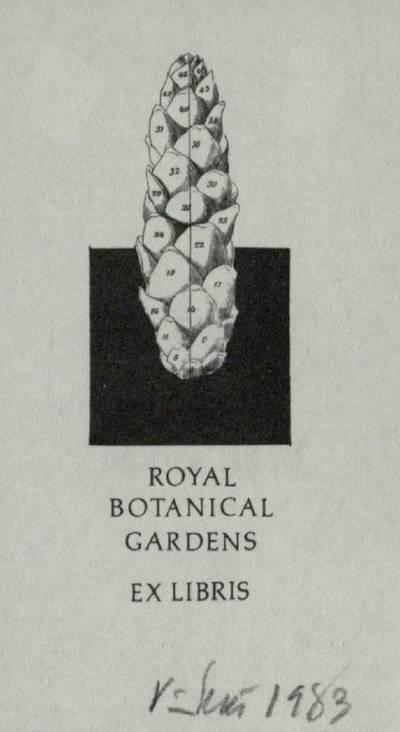 [Vytauto Osvaldo Virkau ekslibrisai]. EX LIBRIS ROYL BOTANICAL GARDENS / Vytautas Osvaldas Virkau. - 1982