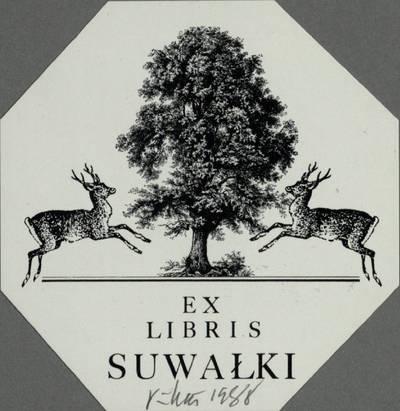 [Vytauto Osvaldo Virkau ekslibrisai]. EX LIBRIS SUWALKI / Vytautas Osvaldas Virkau. - 1988