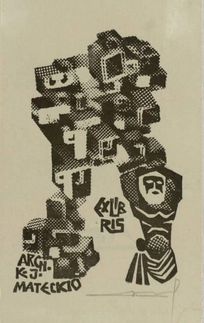 Alfonso Čepausko ekslibrisai. EX LIBRIS ARCH. K. J. MATECKIO / Alfonsas Čepauskas. - 1971