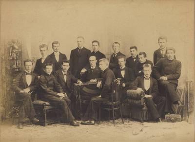 Karlas Šulcas. J. Biliūnas su Tartu universiteto studentais. 1901