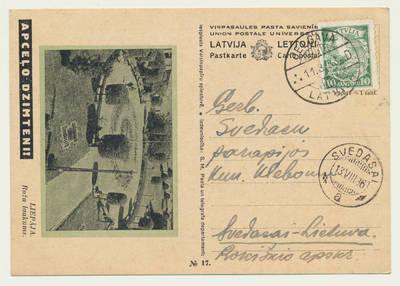 Jelgavos katalikų bažnyčios pranešimas apie B. Matiuko sutuoktuves. 1936-08-11