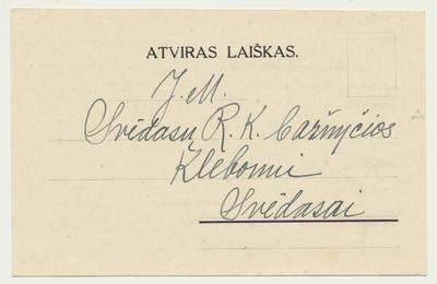 Užpalių bažnyčios vikaro J. Niurkos pranešimas apie J. Jančiaus ir A. Grūdytės santuokos sakramentą. 1938-03-12