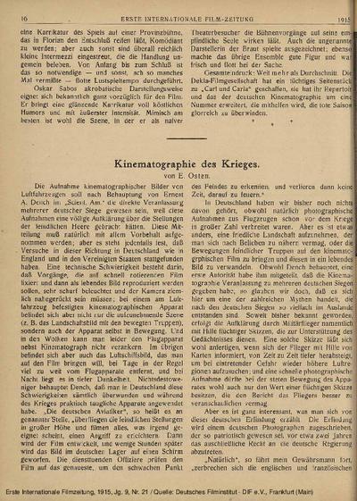 Kinematographie des Krieges.