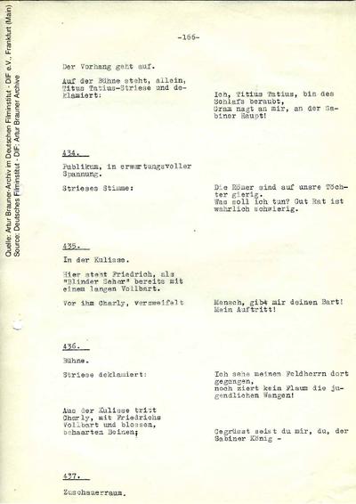 Drehbuch (2. Fassung, Auszug).