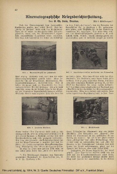 Kinematographische Kriegsberichterstattung.
