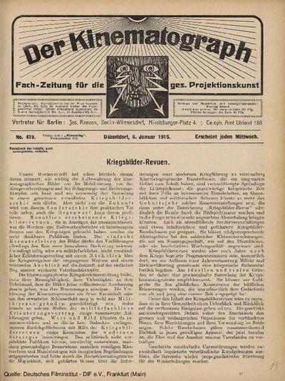 Kriegsbilder-Revuen.