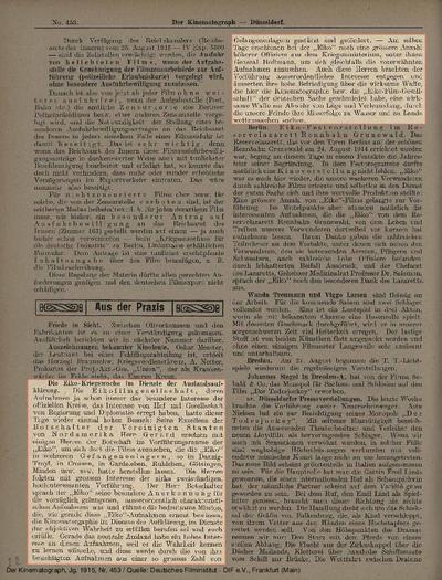 Die Eiko-Kriegswoche im Dienste der Auslandsaufklärung.
