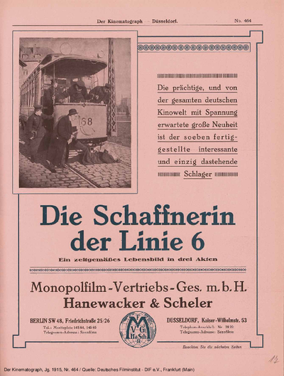 Die Schaffnerin der Linie 6. Ein neuzeitliches Lebensbild.