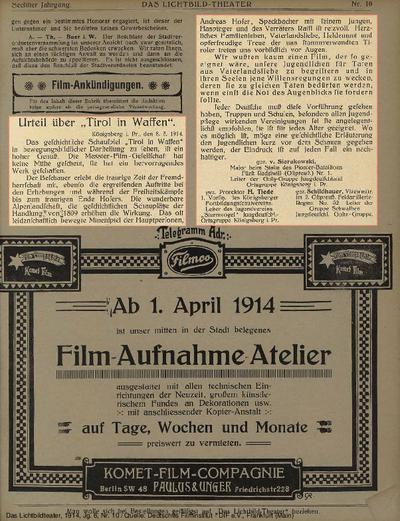 Urteil über Tirol in Waffen.