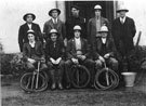 Home Guard with stirrup pumps and bucket
