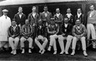 North Devon Cricket Club v M.C.C. August 18th and 19th 1922. North Devon Team. (For Full names and positions see card)