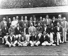 North Devon Cricket Club v G.E.C. Woods XI August 14th and 15th 1922 - Group Photo. (For full names and positions see card)