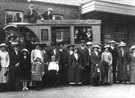 Outing (Group in front of bus) - The people shown all come from Black Dog or Washford Payne. The bus was driven by Messrs Thomas Bros..