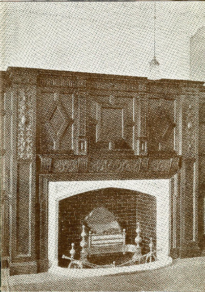 The Directors Room fireplace inside Mssrs William Gossage and Sons Soap Works.