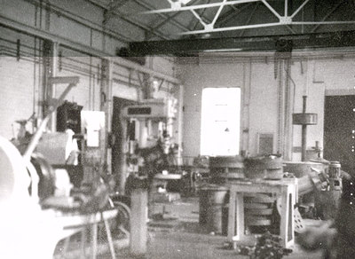 Inside the fitting shop at Albright and Wilson Works, manufacturers of soap powder and detergents.