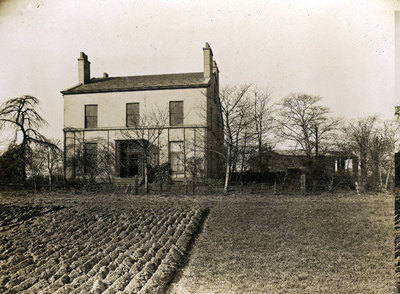 Moss Brook House which was demolished around 1935. it was sited at the rear of the current Farnworth Railway station.